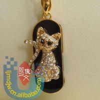 情侣礼品猫咪创意公仔U盘 厂家批发 珠宝小猫吊坠u盘32/8GB 16GB