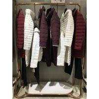 品牌折扣女装尾货走份红袖18冬款羽绒服大衣