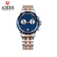正品瑞士品牌 高档男款商务多功能不锈钢防水男士手表