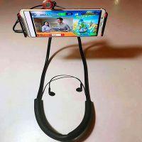 网红同款直播神器新品懒人手机支架挂式K歌麦克风平板床头支架