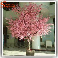 广东仿真植物生产厂家 玻璃钢仿真樱花树装饰 20年老工厂