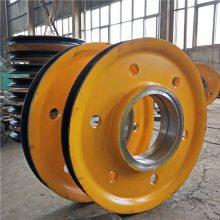 20吨夹轮带轴承起重机定滑轮 双梁吊钩滑轮组 铸钢轧制 抓斗导绳轮 低价供应