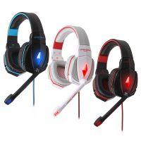 跨境专供因卓EACH G4000头戴式耳麦抗噪发光立体声电脑游戏耳机