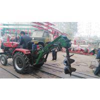 临颍华兴拖拉机带植树挖坑机、打穴机、种树挖坑机
