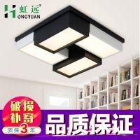 LED吸顶灯长方形灯简约现代创意北欧几何房间灯室内灯具卧室灯