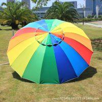 16骨沙滩伞、户外遮阳伞、户外广告太阳伞