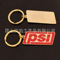 定制锌合金上色滴胶钥匙扣挂饰 长方形红色过年金属钥匙扣挂件制