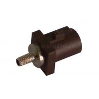 RF射频同轴汽车连接器FAKRA SMB-C-J1.5-3(F型棕褐色短公头)接RG174/316线