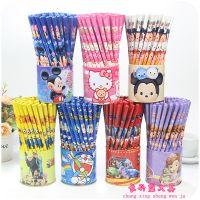 儿童卡通木质铅笔72支可爱桶装小熊小学生写字HB无铅无毒带笔桶
