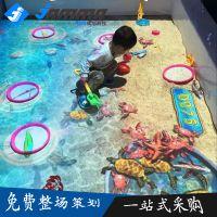 佳玛商场儿童淘气堡3D互动投影墙面地面互动投影沙滩捞鱼画画