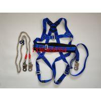 厂家直销涤纶安全带蓝色欧式安全绳全身安全带 汇能