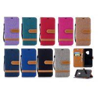 三星S9手机保护套S9 PLUS S8 S7牛仔拼接支架插卡皮套商务风手机