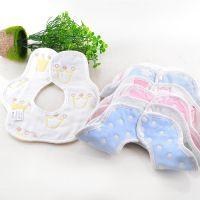 婴儿口水巾宝宝纱布围嘴小孩围嘴兜新生儿饭兜母婴用品厂家