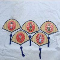 幼儿园青花瓷墙面装饰扇形京剧脸谱空中吊饰中国风挂饰环境布置