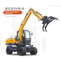 轮式挖掘机:新源BXY75-8轮式抓木机供应(价格面议)