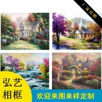 无框画定制 装饰画 欧式风景画 托马斯花园景 酒店宾馆配画壁画