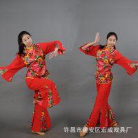 新款秧歌服女装2017民族舞蹈演出服装腰鼓舞扇子舞广场舞表演服装