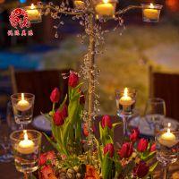婚礼用品场地布置酒店餐厅桌花餐桌装饰用品来图定制花艺铁架