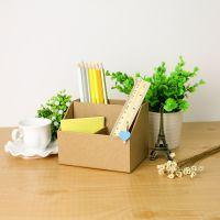 创意时尚DIY纸质笔筒桌面方形多功能杂物整理盒笔筒文具笔座笔插