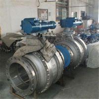 Q347H-16C DN250 铸钢蜗轮固定球阀 蒸汽 天然气 导热油高温硬密封球阀