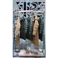 高端棉服潮流时尚中长款18冬装新款广州女装品牌折扣