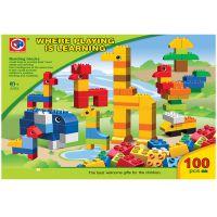 *厂家批发diyyz益智大颗粒动物积木儿童益智玩具学习积木塑胶玩具