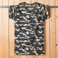 迷彩服短袖t恤男女学生迷彩军训服来图定制LOGOY订做印花印图印字