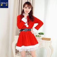 圣诞老人服装衣服成人儿童表演圣诞服装演出服圣诞节服装男女套装