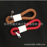 创意皮革汽车车标编织绳淘宝爆款钥匙扣 时尚个性礼品一件代发