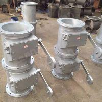 供应不锈钢材质DN500手动翻板阀 圆形直通式放料卸灰阀图片