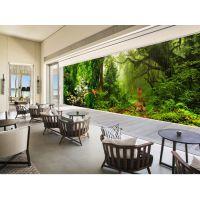 无缝壁画壁纸客厅沙发卧室爱丽丝仙境森林全场景巨幅风景画背景