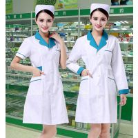 批发夏季短袖护士服 药店工作服 美容院纹绣师衣服 韩版白大褂