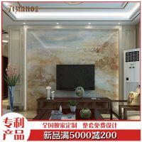 缇香 欧客厅沙发瓷砖背景墙简电视微晶石影视墙罗马柱边框厂 云海