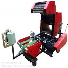 轴承进口配置的打捆机 庞泰包膜机流水线作业