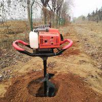 鲅鱼圈苗圃植树打坑机型号 便携式汽油打坑机 快速栽树挖坑机视频