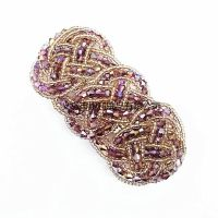新款韩版时尚发夹 串珠水晶编织发卡发饰头饰弹簧夹手工饰品