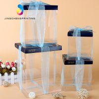 小蛋糕盒子4寸6寸PVC透明生日蛋糕盒PET塑料方形蛋糕盒