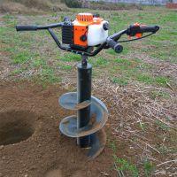 手摇式汽油挖坑机 畅销手推式汽油动力挖坑机 小型轻便打眼机