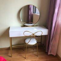 现代梳妆台桌欧式铁艺迷你卧室梳妆台