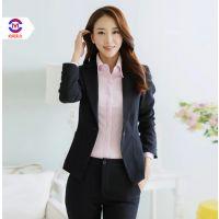 女人纯色单排一粒扣修身收腰商务西装女士时尚西服多款休闲职业装上门定做