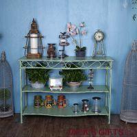 美式乡村铁艺边桌多功能整理收纳架咖啡厅桌子做旧批发淘宝货源