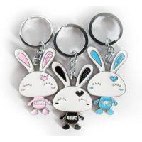 卡通兔宝宝钥匙饰品挂件 创意动漫钥匙扣人物钥匙扣吊牌