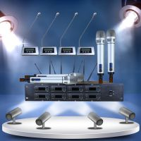 高端UHF一拖八无线会议话筒电容鹅颈防杂音麦克风工程系统