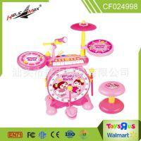 儿童乐器电子琴架子鼓套装男女孩3-7岁儿童少年初学者爵士鼓玩具