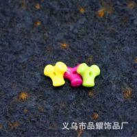 厂家直销 亚克力三角骨头珠子 塑料珠 DIY手工串珠配件