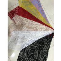 新款锦棉时装蕾丝面料网布 欧美婚纱面料镂空蕾丝布料批发