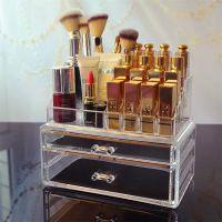 透明亚克力化妆品收纳盒 口红小样唇彩唇釉睫毛膏彩妆桌面收纳盒
