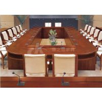 办公桌椅厂家定制实木油漆会议桌