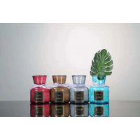 简约欧式玻璃花瓶彩色敞口mini水培植物花瓶干花鲜花客厅插花摆件