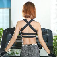 镂空防震高强度运动瑜伽美背内衣女健身胸衣跑步文胸背心聚拢bra